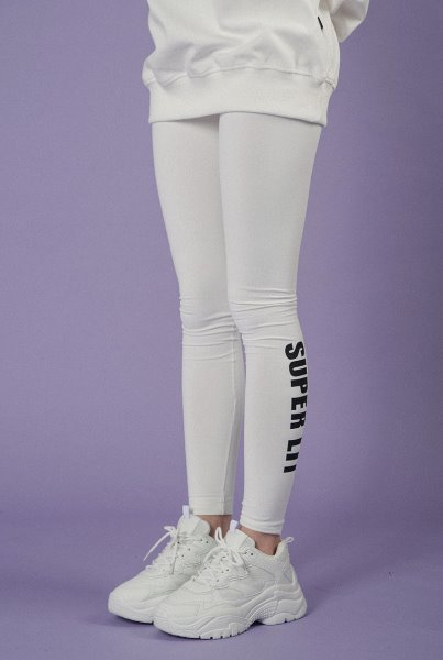 Basic creora leggings white