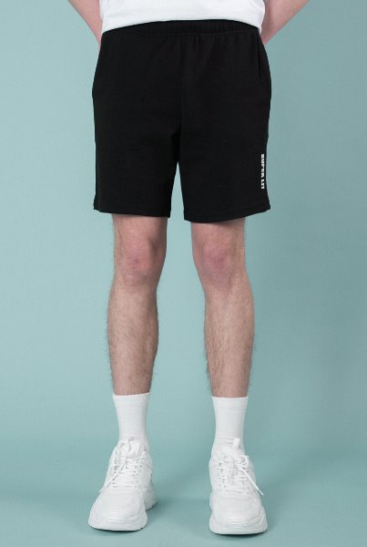 'SUPERLIT' basic shorts black