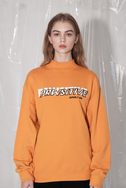 'PAWSITIVE' High Neck MTM 머스타드