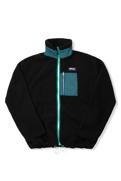 양털 FLEECE POCKET COLOR ZIPUP 블랙