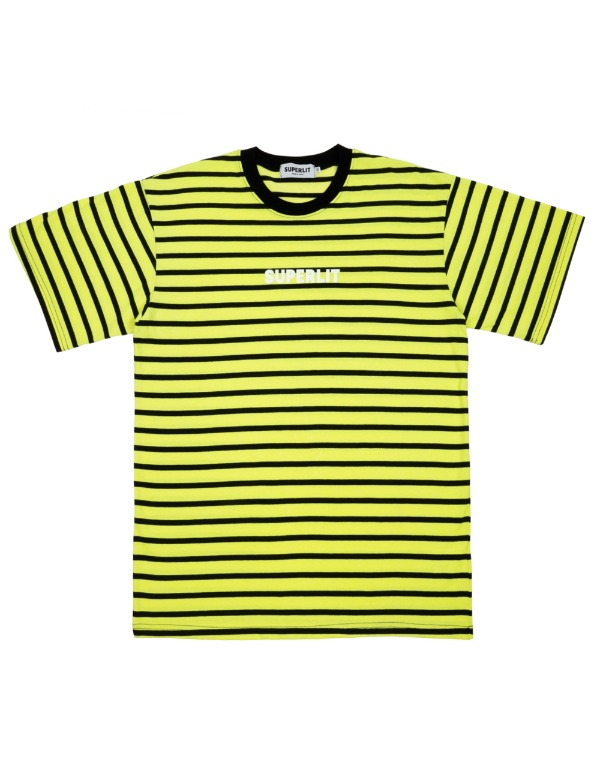 SUPERLIT STRIPE T-Shirts 라임옐로우