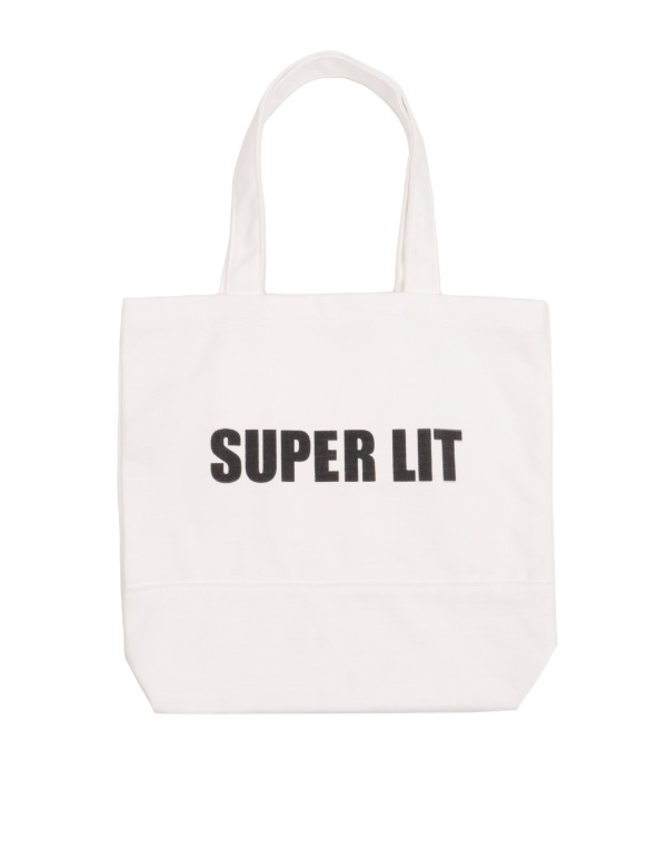 SUPERLIT LOGO ECO BAG 화이트