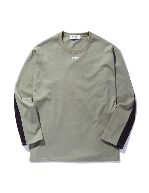 Two-tone L/SL Top 카키