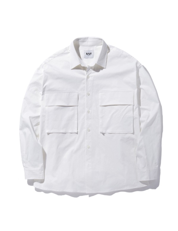 Pocket Overfit Shirt jacket 화이트