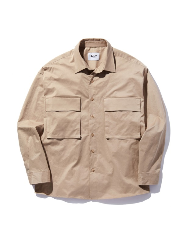 Pocket Overfit Shirt jacket 베이지