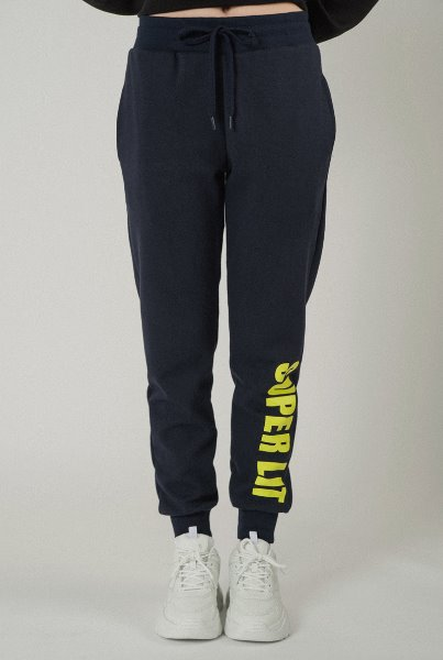 'SUPERLIT' basic pants navy