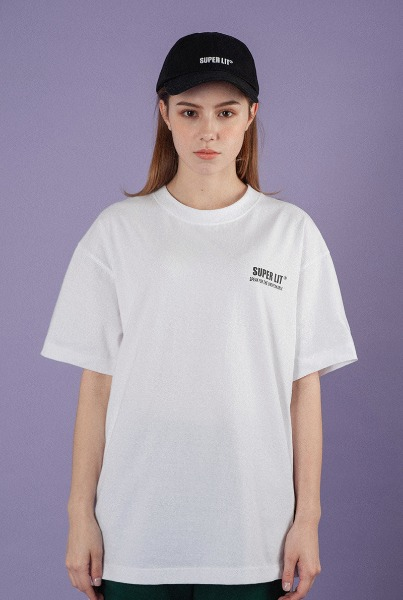 [슈퍼주니어 예성착용]'SUPERLIT' basic white T-shirts