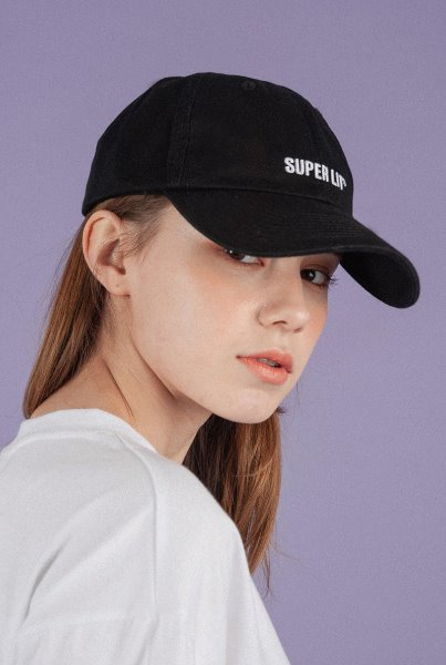 'SUPERLIT' logo ball cap black