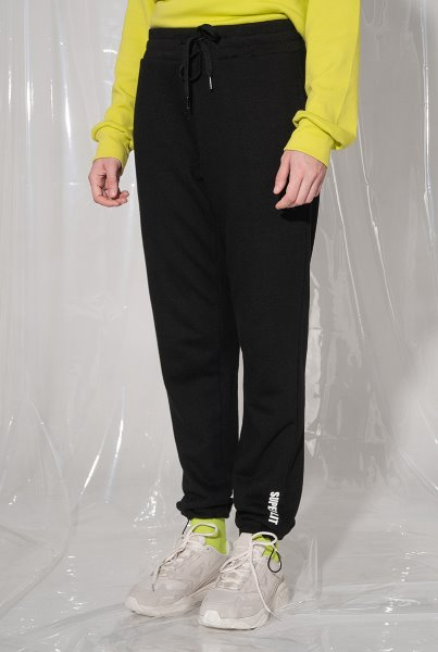 LOGO stopper jogger pants 블랙
