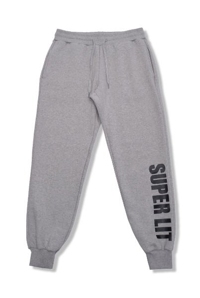 [기모]'SUPERLIT' basic pants 멜란지