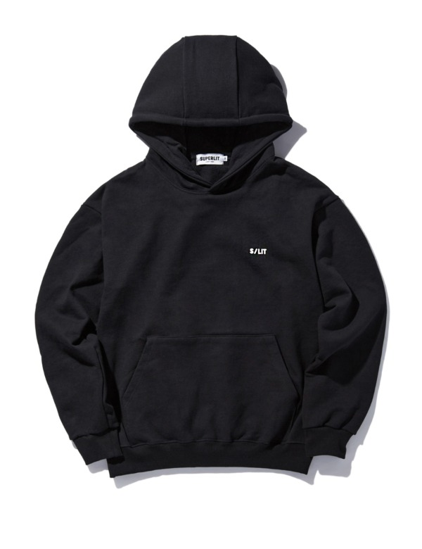 [꽈뚜룹님 착용]S/LIT Logo Hooded Sweatshirt 블랙